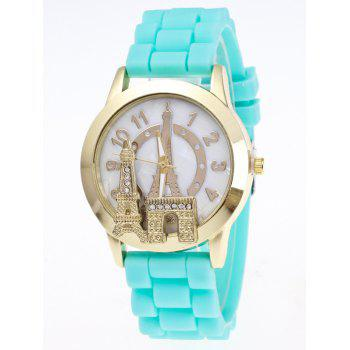 Eiffel Tower Silicone Number Quartz Watch