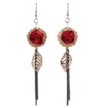 Leaf Rose Earrings