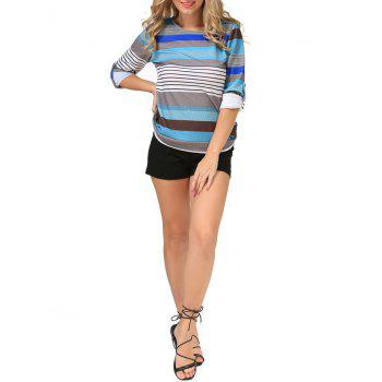 Stripe manches longues Tee - [
