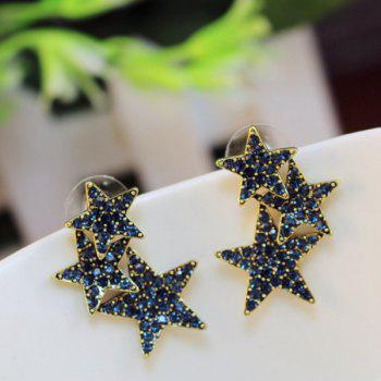 Rhinestone Stars Stud Earrings
