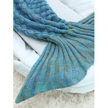 Fish Scale Crochet Knit Mermaid Blanket Throw For Baby -  COLORMIX