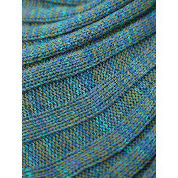 Écaille de poisson Crochet Knit Mermaid Blanket Throw pour bébé - multicolorcolore