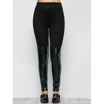 Patent Leather Panel Leggings