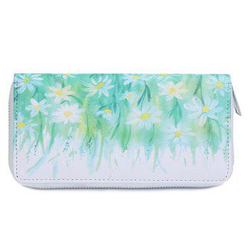 Zip Around Printed Wallet