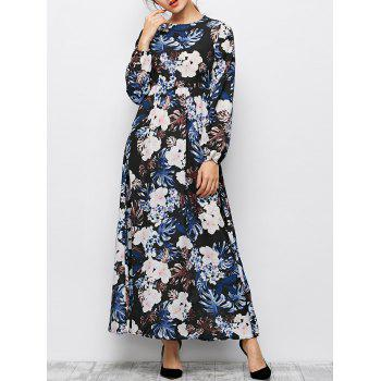 Boho Maxi Floral Long Sleeve Dress