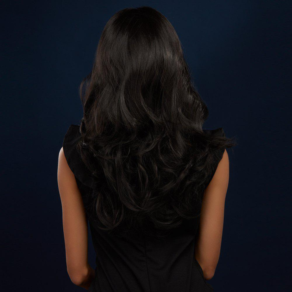 Shaggy Straight Capless Charming Long Black Synthetic Wig - BLACK