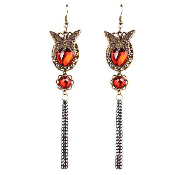 Faux Ruby Butterfly Earrings faux ruby butterfly earrings