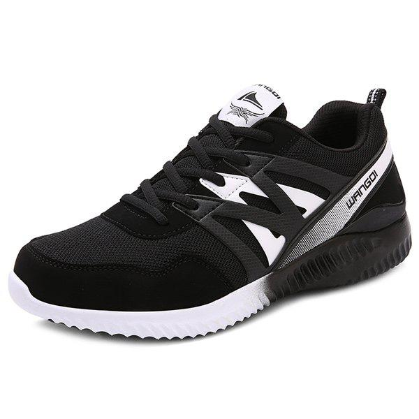 Faux Leather Breathable Athletic Shoes
