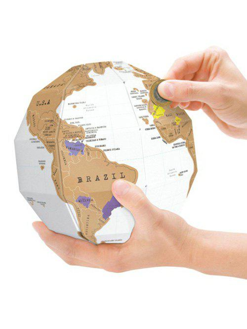 3D Stereo DIY Travel Scratch World Map Globe simba 6 12