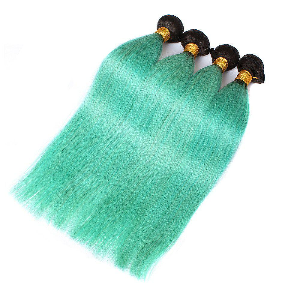 1 Pc/Lot Glossy Straight 8A Virgin Brazilian Hair WeaveHair<br><br><br>Size: 20INCH<br>Color: COLORMIX