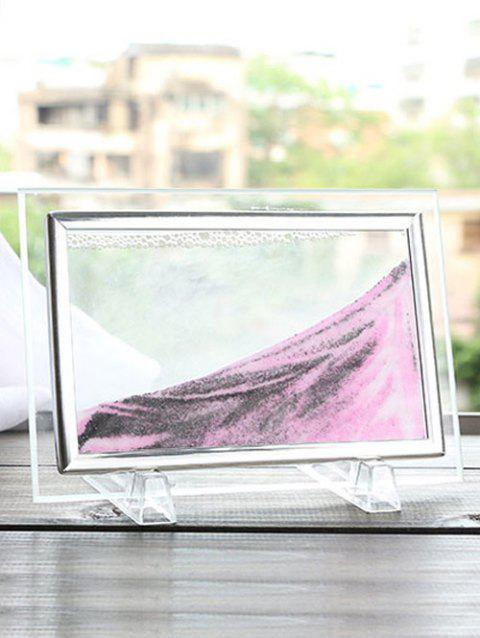 Hourgl Decorative Craft Sand Painting Frame Picture Pink 30 X 25cm