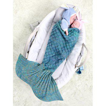 Fish Scale Crochet Knit Mermaid Blanket Throw For Baby - COLORMIX COLORMIX