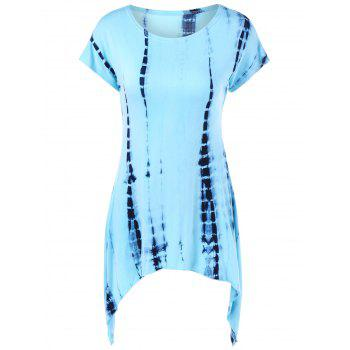 Tie-Dyed Tunic Asymmetrical T-Shirt