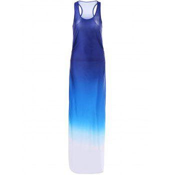 Buy Racerback Ombre Maxi Tank Dress DEEP BLUE