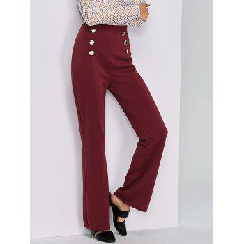 High-Waisted Boot Cut Pants