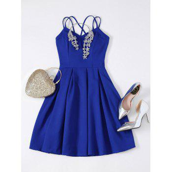 Strappy Fit and Flare Mini Prom Dress