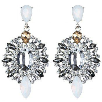 Artificial Gem Rhinestone Drop Earrings