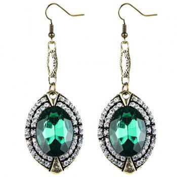 Artificial Emerald Drop Earrings