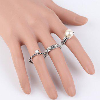 Fake Pearl Ring Set