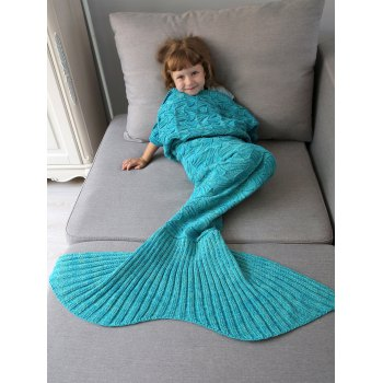 Spiral Algae Crochet Knit Mermaid Blanket Throw For Kids