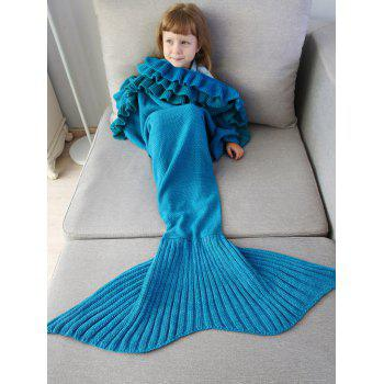 Ruffles Knit Mermaid Blanket Throw For Kids