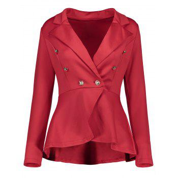 High Low Buttoned Blazer