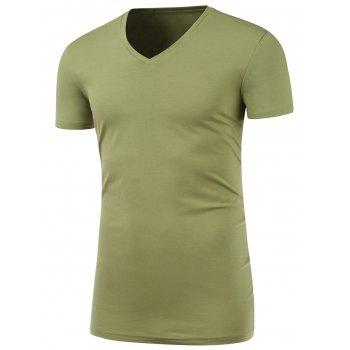 Slim Fit Short Sleeve V Neck Tee