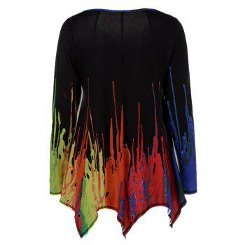 Splatter Paint Handkerchief Tunic T-Shirt - COLORMIX XL