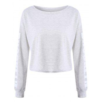 Brooklyn Letter Cropped Long Sleeve Top