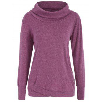 Long Sleeve Turtleneck Asymmetric Sweatshirt