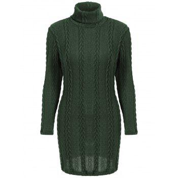 Long Sleeve Turtleneck Sweater Dress