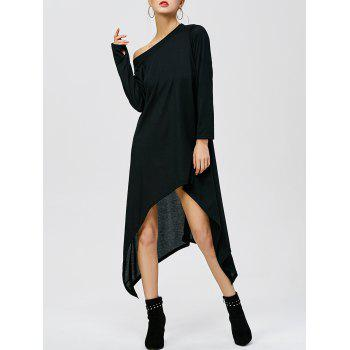 Skew Neck High Low Hem Dress