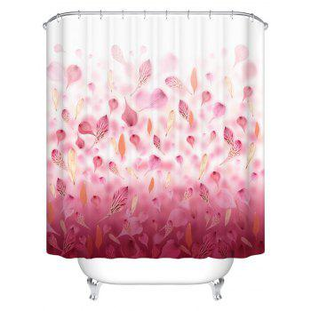 Petal Print Waterproof Bathroom Shower Curtain
