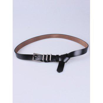 Faux Leather Skinny Belt with Alloy Pin Buckle