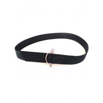 Coat Wear D Buckle Faux Suede Waist Belt