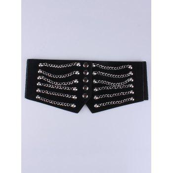 Metal Chains Elastic Extra Wide Belt