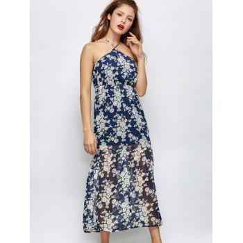 Floral Crosscriss Beach Maxi Dress