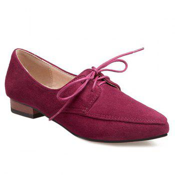 Suede Point Toe Flats