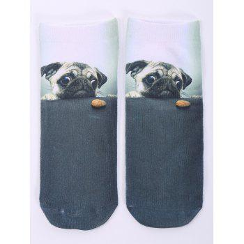 3D Dog and Biscuit Print Crazy Socks