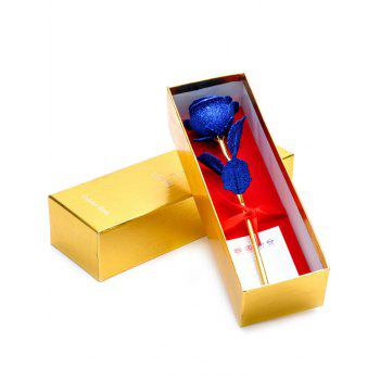 Gold Plated Rose Flower with Gift Box