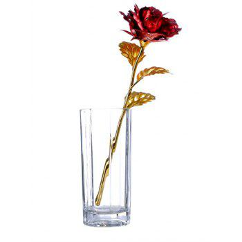 Birthday Gift Gold Plated Rose Flower - RED