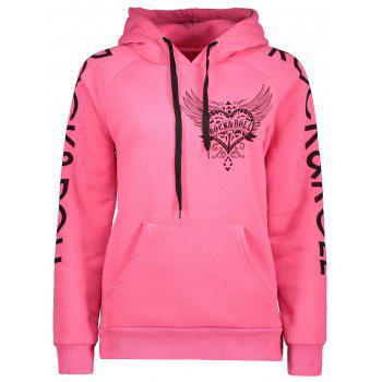 Drawstring Letter Printed Funny Hoodie