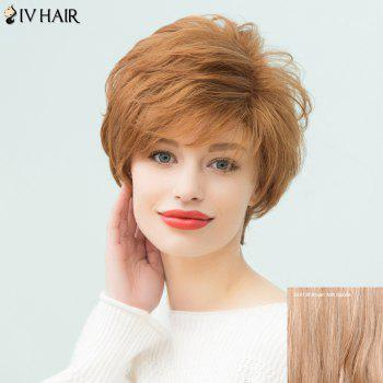 Siv Hair Layered Short Pixie Side Bang Curly Human Hair Wig
