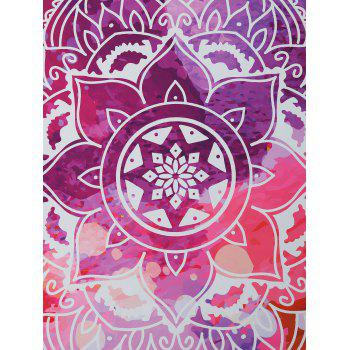 Floral Shape Mandala Print Beach Throw - PURPLE ONE SIZE