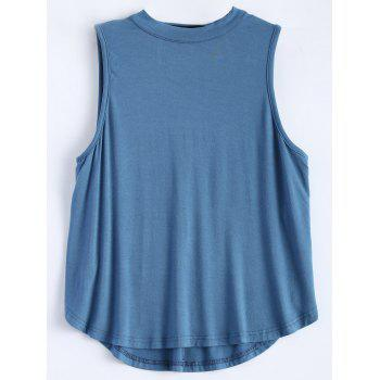 Sleeveless Cut Out T-Shirt - ICE BLUE ICE BLUE