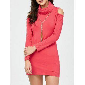 Cold Shoulder Long Sleeve Mini Bodycon Dress