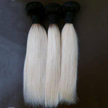 3 Piece/Lot 8A Virgin Vietnamese Straight Hair Weave - WHITE/BLACK WHITE/BLACK