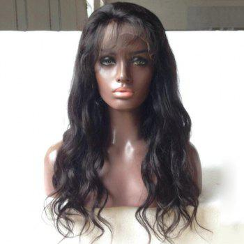 Faddish Indian 5A Remy Body Wave Hair Weave 2 Pcs/Lot With 360 Lace Frontal Human Hair Weave - BLACK BLACK