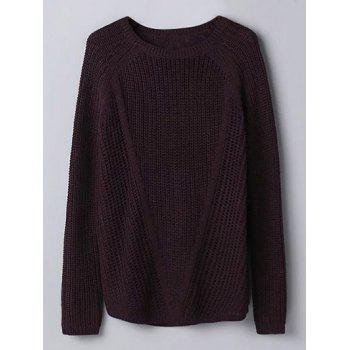 Crew Neck Hollow Out Jumper