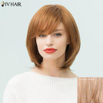 Siv Hair Medium Side Bang Bob Layered Straight Human Hair Wig
